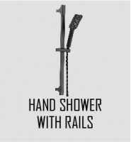 Hand Shower With Rails