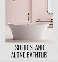 Solid Stand Alone Bathtub