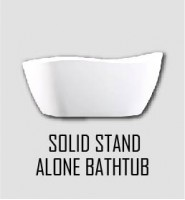 Solid Stand Alone Bathtub