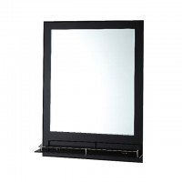 Bareno Rectangular Bathroom Mirror c/w Glass Shelf