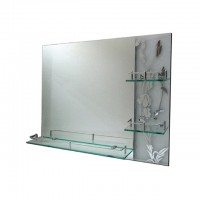 Bareno Rectangular Bathroom Mirror c/w Shelf BJ155