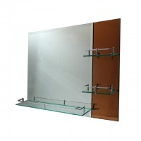 Bareno Rectangular Bathroom Mirror c/w Shelf BJ158