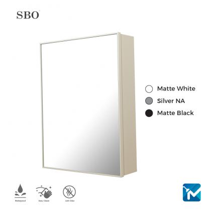 SBO Aluminium Mirror Cabinet (Medium)
