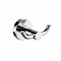 Evans S/Steel Double Robe Hook (Chrome)