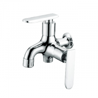 Evans Two way bib tap / Brass Single Cold in wall faucet (Chrome)