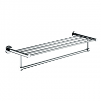 Evans S/Steel Double Bathtowel Shelf (Chrome)