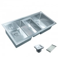 Bareno S/S 316 2-1/2 Bowl Kitchen Sink TSR-100