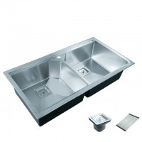 Bareno S/S 316 2 Bowl Kitchen Sink TSR-95