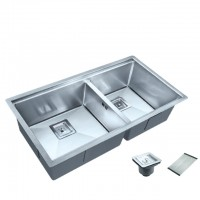 Bareno S/S 316 2 Bowl Kitchen Sink SR-88