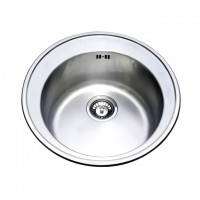 Bareno S/S Round T/Mount Sink 1mm Thick 1011D-3
