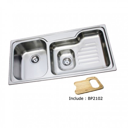 Bareno S/S Top Mount Sink 1mm Thick 2102F