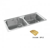 Bareno S/S 2Bowl Sink (1mm Thick) 2038F