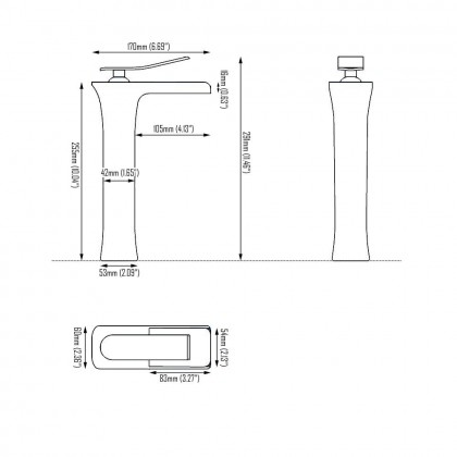 Evans Tall Basin Mixer (Chrome)