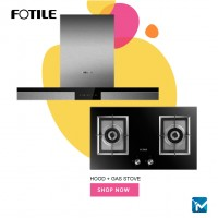 Fotile EMS9020 Chimney Hood + Fotile GAG76202 Built-in Gas Hob