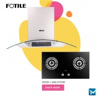 Fotile EH13-SZ Chimney Hood + Fotile FD2B2 Built-in Gas Hob