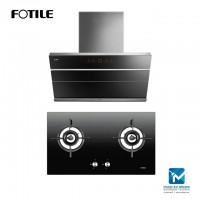 Fotile JQG9009S Chimney Hood + Fotile GHG78211 Built-in Gas Hob