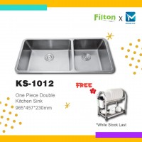 Filton Season Sale One Piece Double Kitchen Sink