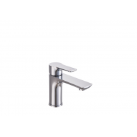 "Johnson Suisse Trento Single lever basin mixer with 1¼"" hand push pop-up waste"