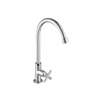 "Johnson Suisse Asti-N ½"" deck-mounted sink tap with swivel (round) spout"
