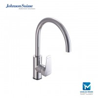 "Johnson Suisse Felino Single lever ½"" deck-mounted sink mixer with swivel spout"