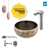 Evans Art Countertop Basin With High Lever Basin Mixer Set