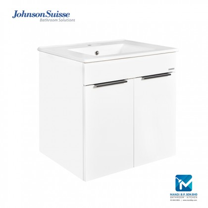 Johnson Suisse Parma 600 White With Door Bathroom Furniture