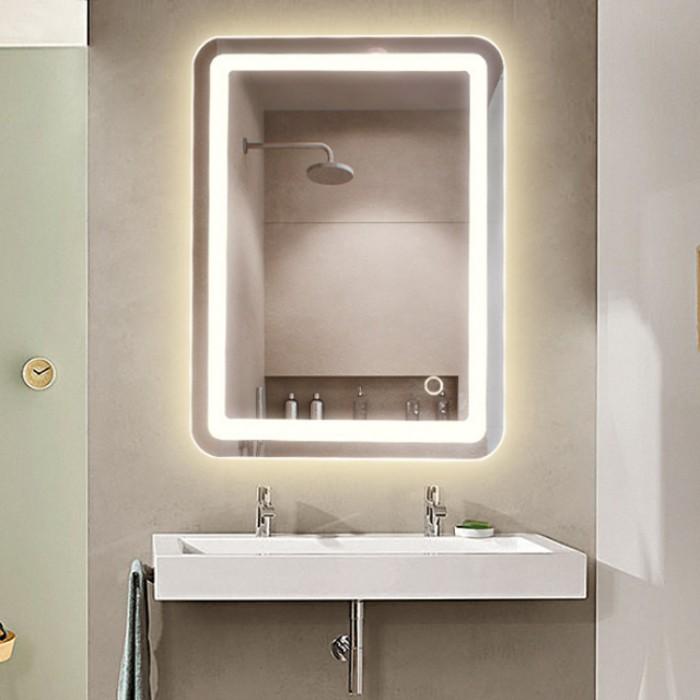 Sensational Evans Led Lighted Bathroom Mirror With Touch Sensor Download Free Architecture Designs Scobabritishbridgeorg