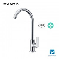 Evans Solid Brass Kitchen Sink Tap, Chrome Plated Faucet