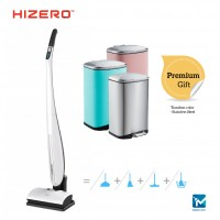 Hizero 4-in-1 Bionic Mop for Hard Floors Sweeping, Mopping, Drying and Self-Cleaning