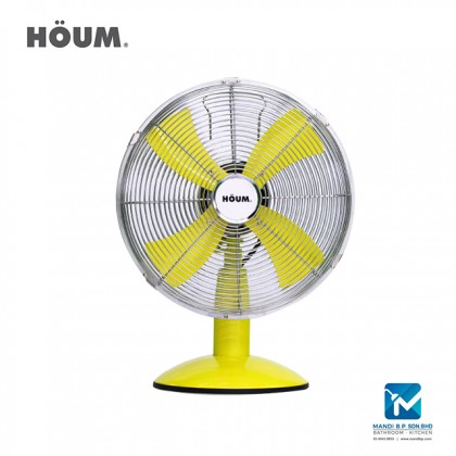 """Houm Retro Series 12"""" with Oscillation Color Table Fan"""