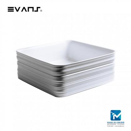 Evans Art Basin Countertop Ceramic Basin (Square)