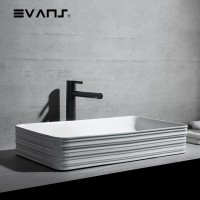 Evans Art Basin Countertop Ceramic Basin (Rectangle)