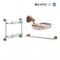 Evans Rose Gold Bathroom Accessories Set