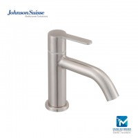 Johnson Suisse Murano ½ inch basin pillar tap, stainless steel
