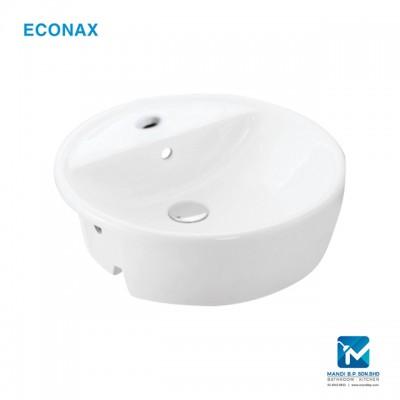 Econax Semi Recessed Basin - Round