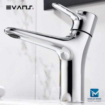 Evans Basin Mixer Soild Brass Chrome Plated Artistic Style