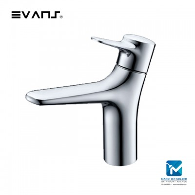 Evans Basin Mixer Soild Brass Chrome Plated Artistic Style