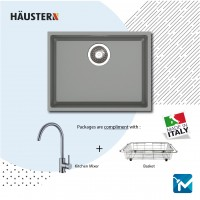 Haustern Undermount 1 Bowl Granite Sink EDGE612UM