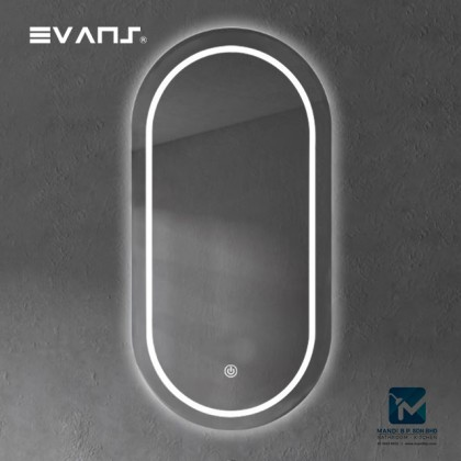 Evans LED Bathroom Oval Round Horizontal Mirror 900 X 500mm