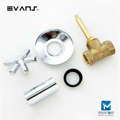 Evans Chrome Stop Valve 1/2, 3/4 and 1 inch