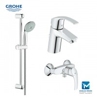 Grohe Eurosmart New Bath Complete Exposed Hand Shower Package 1