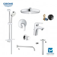 Grohe Eurostyle New Bath Complete Concealed Hand & Head Shower Package 3