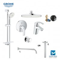 Grohe Eurosmart New Bath Complete Concealed Hand & Head Shower Package 4