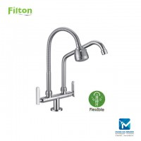 Filton Kitchen Pillar Sink Tap Flexible Shower Spout + L Spout