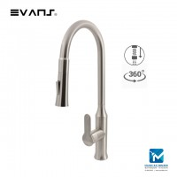 Evans Kitchen Mixer Single Handle with Pull Down Dual Function Sprayer