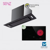 SENZ Invisible MultiHood Black + 2 In 1 Smart Cooker