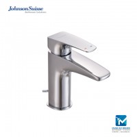 "Johnson Suisse Felino Single lever basin mixer with 1¼"" pop-up waste"
