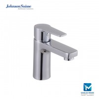 Johnson Suisse Turin Single lever basin mixer without waste, chrome plated