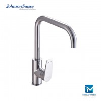 "Johnson Suisse Misano Single lever ½"" deck-mounted sink mixer with swivel spout"