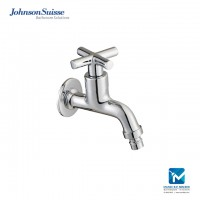 Johnson Suisse Asti-N ½ inch washing machine tap with wall flange